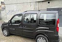 Рейлинги Fiat Doblo 2000-2010 длинная база Черные (чугунные ножки) Can Koruma