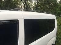 Рейлинги Fiat Doblo 2010+, Opel Combo 2012+ длинная база Черные (чугунные ножки) Can Koruma