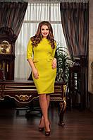 Платье женское из шерсти, 2 цвета, разм 48-56