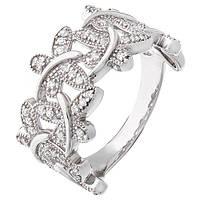 Серебряное кольцо Мотыльки с фианитами 000047861 17.5 размера