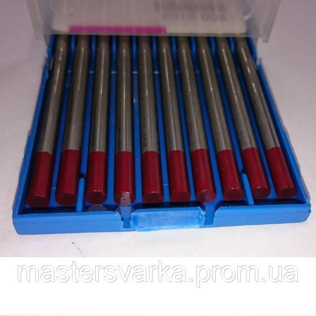 Вольфрамовый электрод WT Ф 4,0 мм красный, с оксидом тория