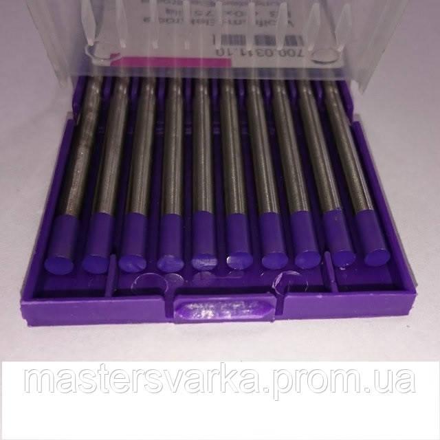 Вольфрамовий електрод E3 Ф 1.0 мм фіолетовий, з сумішшю оксидів