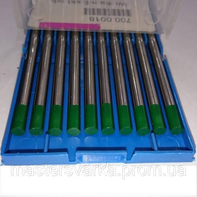 Вольфрамовый электрод WP Ф 1,6 мм зеленый, без добавок - чистый вольфрам