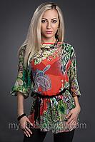Блуза женская шифоновая в принт