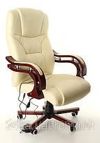 Офисное массажное кресло PRESIDENT с подогревом бежевое, фото 3