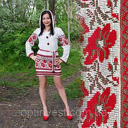 Женскоя льняная туника с вышивкой