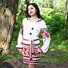 Женскоя льняная туника с вышивкой, фото 4