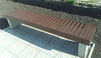 Лавочка садовая, парковая №9 на бетонных ножках