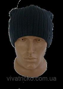 Мужская шапка зимняя, флис м 7018, разные цвета