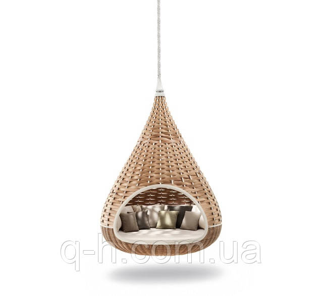 Подвесной лаунж-диван инжир плетеный из искусственного ротанга