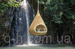 Подвесной лаунж-диван инжир плетеный из искусственного ротанга, фото 2
