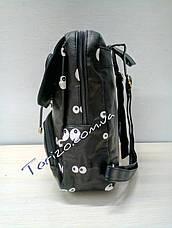Молодёжный женский рюкзак кожзам, фото 3