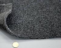 Авто ковролин черно-серый на твердой основе, шир.2,0м, ковролин для авто