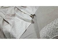 Комплект постельного белья из льна Дуэт серый