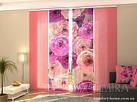 Панельная штора Розы Каролина комплект 4 шт