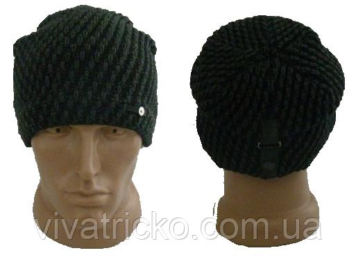 Мужская шапка зимняя, флис м 7035, разные цвета