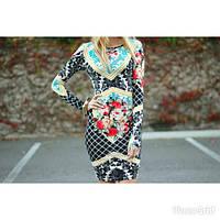 Облегающее короткое платье в принт Topshop