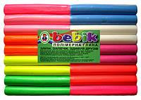 """Полимерная глина 9 цветов флуоресцентная.""""Бебик"""""""