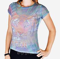 Женская футболка сетка (WF5001)   6 шт., фото 2