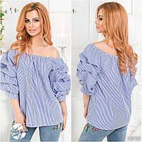 """Стильная женская блуза с открытыми плечами """" Коттон"""". Разные цвета."""