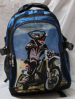 Ранец рюкзак школьный ортопедический Edison Motocross 17-7825-3