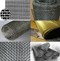 Сітка ткана фільтрувальна: нержавіюча, латунна, низьковуглецева, оцинкована