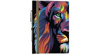 Блокнот на резинке Rainbow Лев