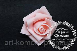 Головка розы латексная персиковая, 5 см