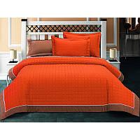 Покрывало хлопок с наволочками 230х260 Halley - Oranj оранжевый