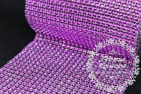 Шина малиновая (лента с имитацией страз). Ширина шины 24 ряды