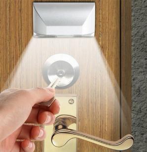 подсветка дверного замка по датчику движения