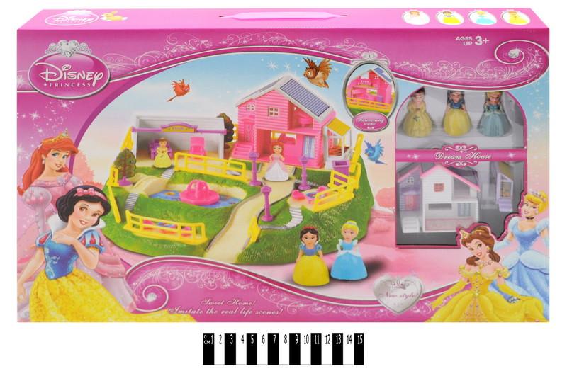 Дом игрушечный для кукол Принцессы Диснея 3947-1, кукольный домик