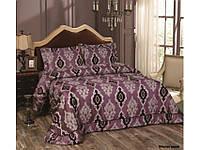 Покрывало с наволочками 250х260 Сатин Arya - Azura фиолетовый