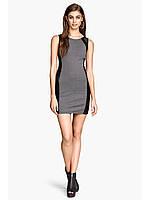 Короткое платье с вставками под кожу H&M