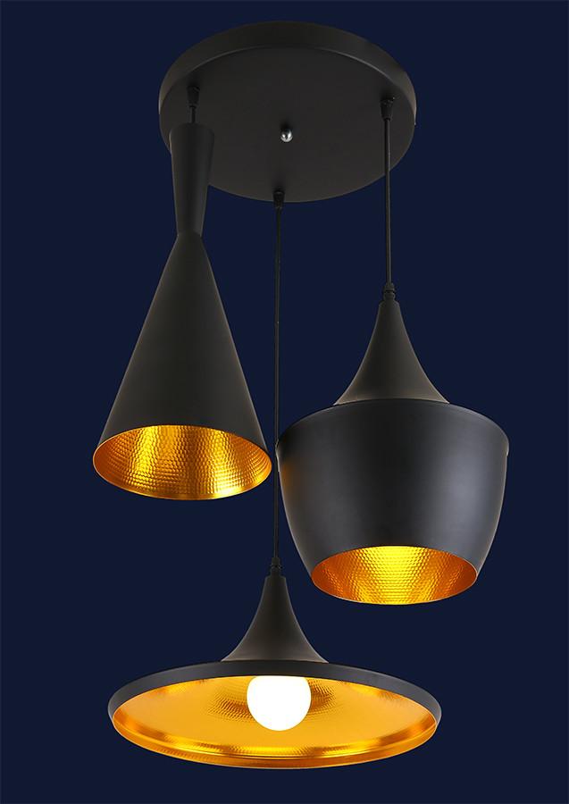 Светильник подвесной LOFT L546403-3 BK
