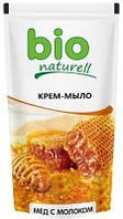 """Жидкое мыло Bio Naturell """"Мед с молоком"""" дой-пак, 500 мл."""