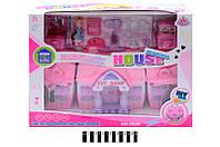 Дом игрушечный для куклы  5588, кукольный домик, коробка р.48,1*13*37 см