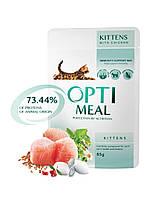 Консервированный корм Optimeal для для котят с курицей , 0,085кг