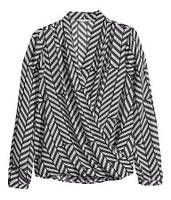 Блуза в принт на запАх H&M
