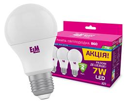 Светодиодная лампа ELM 7W PA10L E27 3000K пак 3шт
