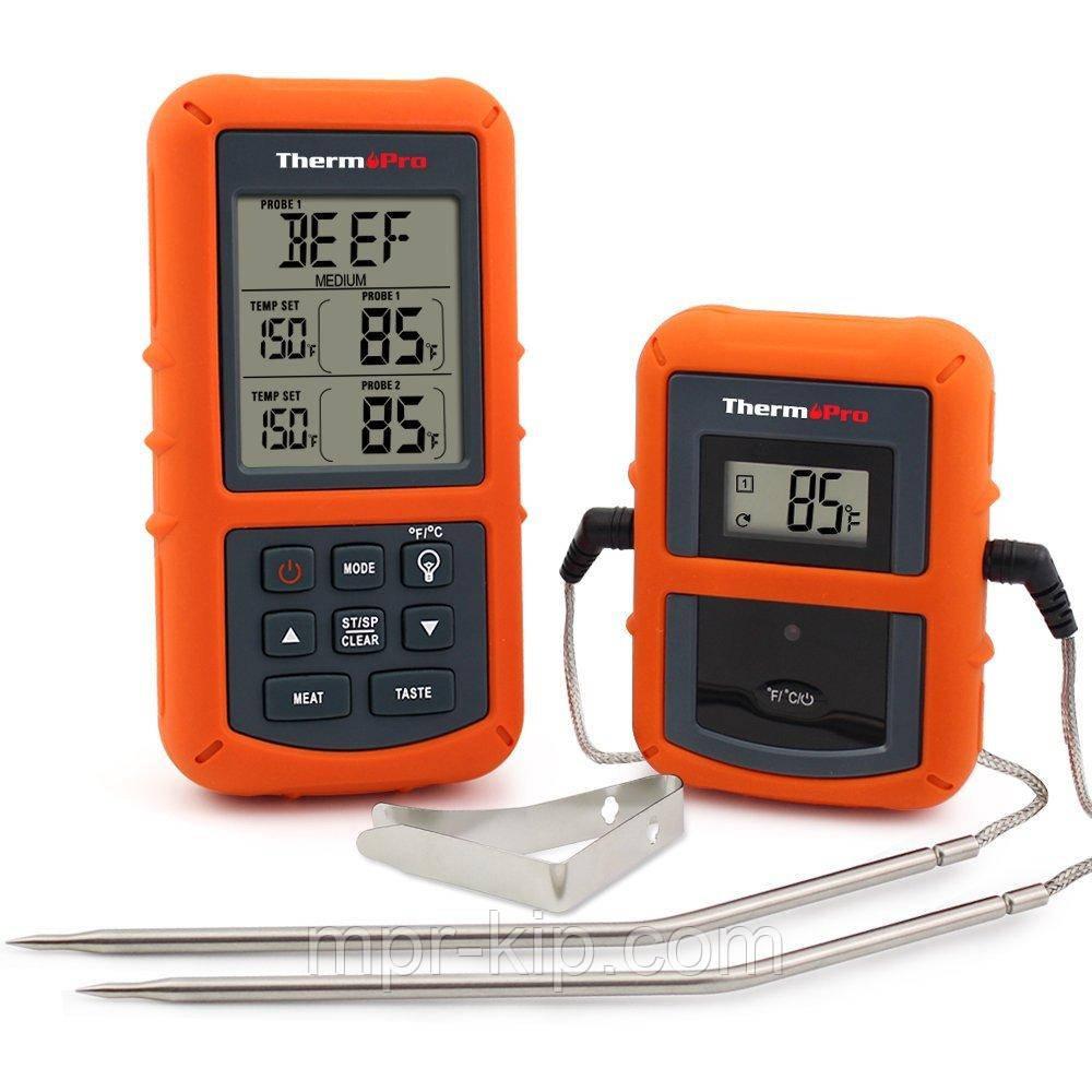 Бездротовий двоканальний термометр (до 100 м) ThermoPro TP-20S (0-300 °С) з таймером та 7 режимами для м'яса