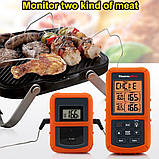 Бездротовий двоканальний термометр (до 100 м) ThermoPro TP-20S (0-300 °С) з таймером та 7 режимами для м'яса, фото 2