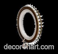 Кольцо бесшумное RG 422 для карниза кованого Ø 19 мм, ГРАФИТ