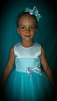 Детское платье на девочку с обручем  Нежная мята