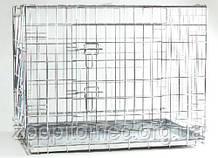 Pet Pro КЛІТИНА ДВУДВЕРНАЯ для собак і котів, цинк 78-55-61 см