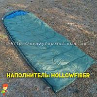 Теплый спальный мешок Royal Camp SP1800-olive (hollowfiber) Польша, фото 1