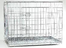 Pet Pro КЛІТИНА ДВУДВЕРНАЯ для собак і котів, цинк 109-69-75 см
