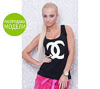 "Майка-борцовка (бренд Chanel"") - распродажа модели голубой, Chanel"