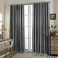 Черно-белые шторы в интерьере: элегантно и современно
