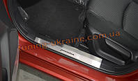 Накладки на внутренние пороги NataNiko на Mitsubishi Outlander 2014